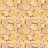 Cookies pattern. Seamless pattern of homemade cookies Stock Photos