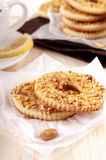 Cookies with peanut. Homemade cookies of Shortcrust pastry with peanut Royalty Free Stock Images