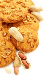 Cookies with peanut closeup. Royalty Free Stock Photography