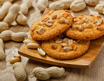 Cookies with peanuts Royalty Free Stock Photography