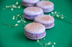 Cookies pequenas do macaron Imagens de Stock