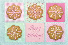 Cookies with pink frosting Stock Image