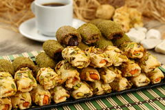 Cookies with pistachio Stock Images
