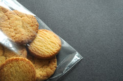 Cookies in plastic bags Stock Images