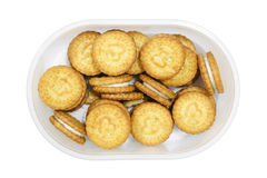 Cookies in the Plastic box Royalty Free Stock Photos