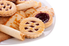 Cookies on a plate Stock Photos