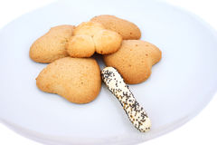 Cookies on plate Stock Photo