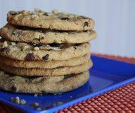 cookies on plate Royalty Free Stock Images
