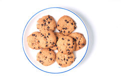 Cookies on plate Royalty Free Stock Image