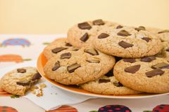 Cookies in a plate Stock Images