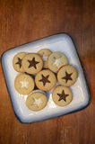 Cookies on a plate Stock Images