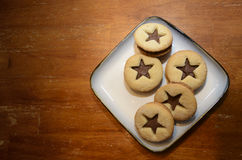 Cookies on a plate Stock Photography