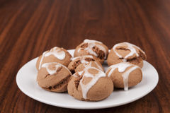Cookies on Plate Stock Image