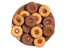 Cookies in plate Stock Photos