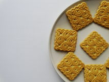 Cookies on a plate. Product food breakfast Stock Image