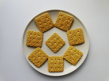 Cookies on a plate. Product food breakfast Royalty Free Stock Photography