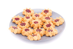 Cookies on plate Stock Images