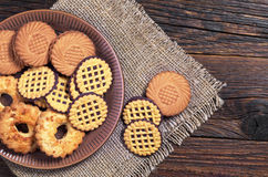 Cookies in plate Royalty Free Stock Images