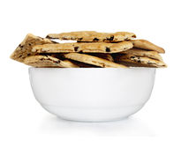 Cookies on plate. On white background Royalty Free Stock Photos