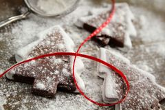 Cookies with powder sugar Royalty Free Stock Image