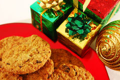 Cookies and presents Stock Image