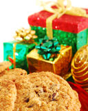 Cookies and presents Stock Images