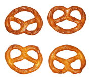 Cookies pretzels  isolated on white Stock Photography