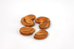 Cookies of puff pastry isolated. On a white background Royalty Free Stock Photo