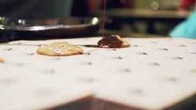 Cookies que preparam-se para cozinhar video estoque