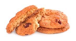 Cookies quebradas em um fundo branco Imagens de Stock