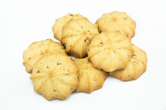 Cookies. Raisin Flavored on the isolate background Royalty Free Stock Image