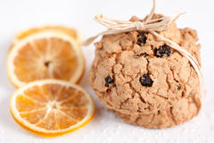 Cookies with raisins Royalty Free Stock Photo