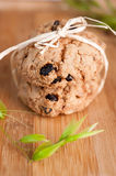 Cookies with raisins Royalty Free Stock Image