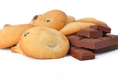 Cookies with raisins and chocolate Stock Images