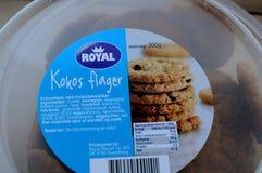 COOKIES REAIS DE KOKOS FLAGER Fotos de Stock