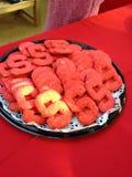 Cookies. Red sugar cookies Royalty Free Stock Image