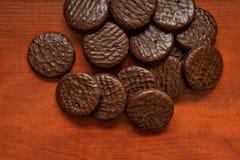 Cookies redondas dos pedaços de chocolate II foto de stock