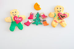 Cookies representing celebration of Christmas Royalty Free Stock Photography