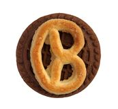 Cookies resembling bitcoin. As a curious parody of crypto currency Stock Images