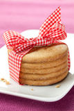 Cookies with ribbon Stock Photography