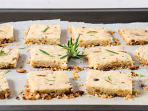 Cookies with rosemary and pignoli nuts Stock Photo