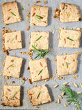 Cookies with rosemary and pignoli nuts Stock Image