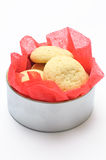 Cookies in a round box Stock Images