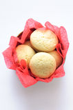Cookies in a round box Stock Photos