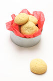Cookies in a round box Royalty Free Stock Image