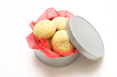 Cookies in a round box Stock Photo
