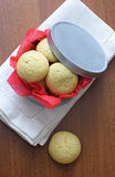 Cookies in a round box Royalty Free Stock Photo