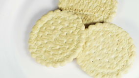 Cookies round stock video footage