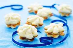 Cookies sable with cream cheese Royalty Free Stock Photography