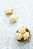 Cookies sable with cream cheese Stock Image